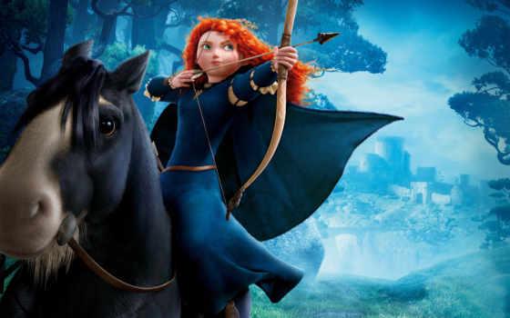 merida, принцесса, princesa, лошадь, brave, героиня, главная,
