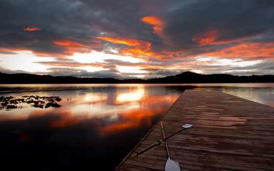 закат, full, небо, облако, milli, pier, страница, free,