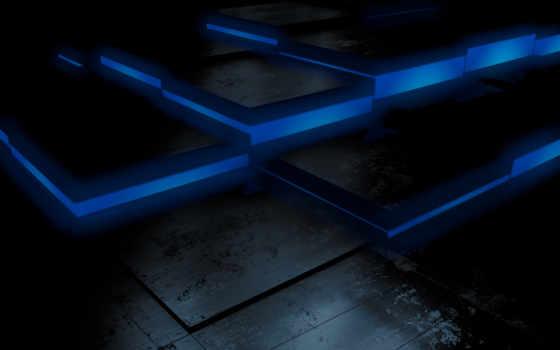 , квадраты, голубой, синий,