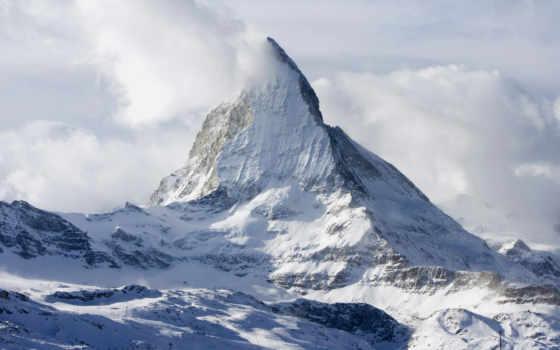 гора, снег, landscape, free, нояб, art, вектор,