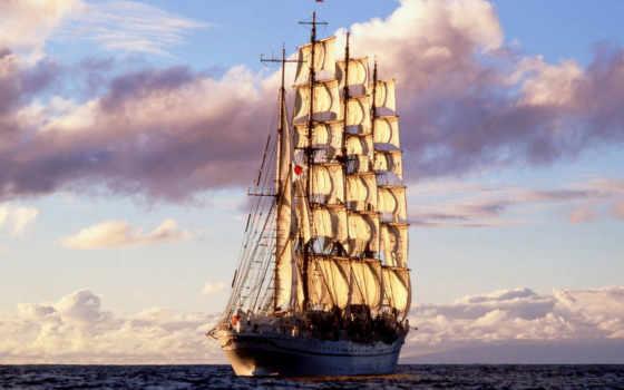 ship, sailing