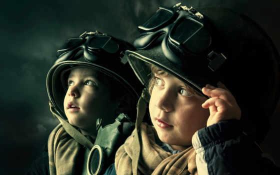 дети, маска, шлем