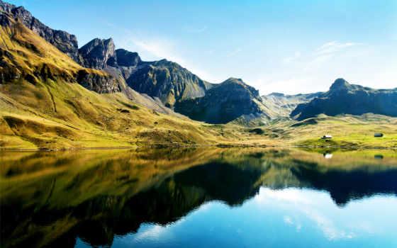 full, озеро, горы