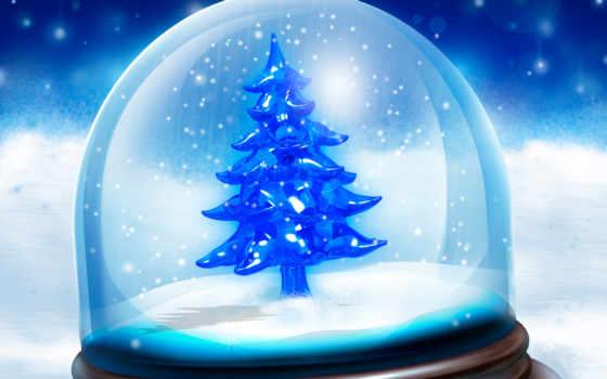 neve, natal, parede