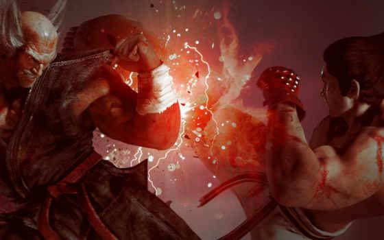 tekken, heihachi, kazuya, скриншоты, mishima, игры,