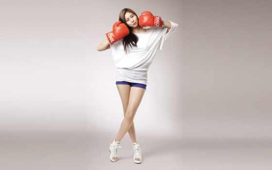 спорт, перчатки, боксерские, www, девушка, iphone,