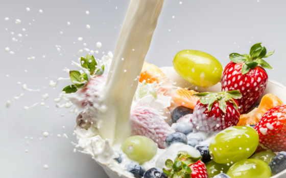 milk, плод, fresh, завтрак, poured, символ, healthy, stock,