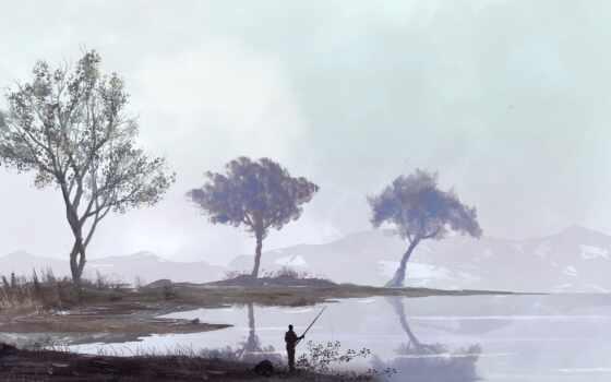 дерево, spot, fish, digital, memance, art, orang