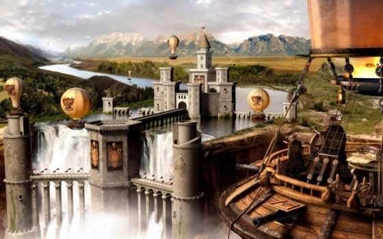 fantasy, castle Фон № 46875 разрешение 1920x1200