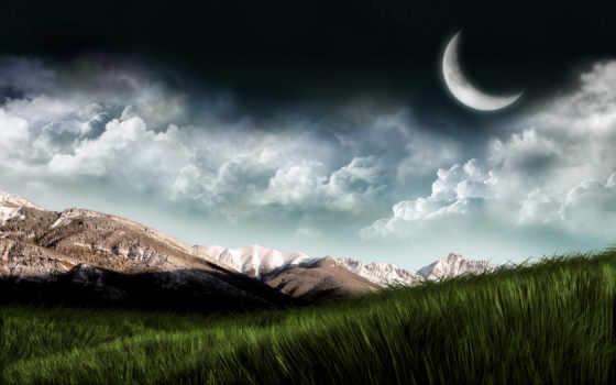 landscape, fantasy, горы