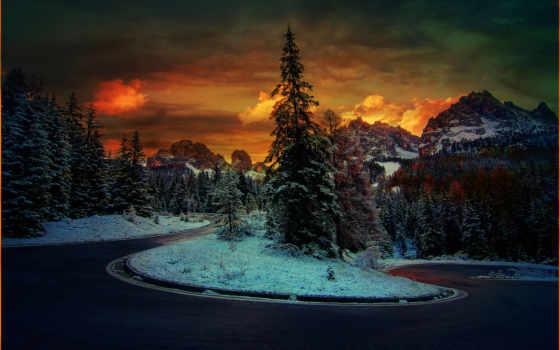 дома, снег, winter, landscape, прекрасная, побережье, stefano, горы, crea,