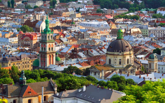 ukraine, львів, viv, город, stock, взгляд, town, alamy, lvov, изображение,
