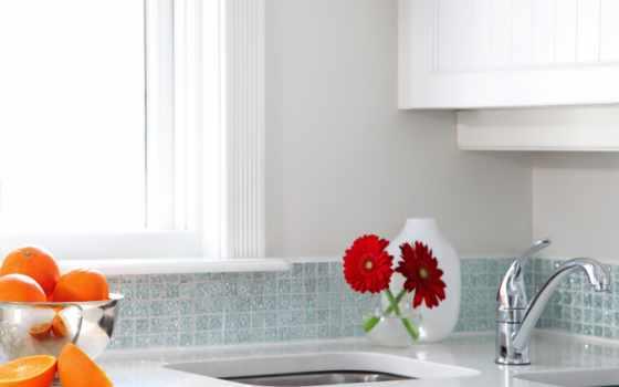 интерьер, design, cvety, white, апельсины, nouveau, разрушенный, теме, parede, kitchen,