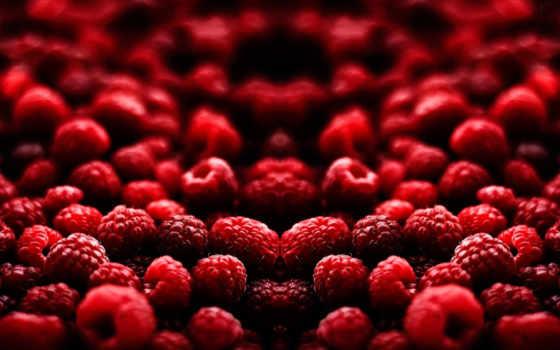 малина, макро, ягоды