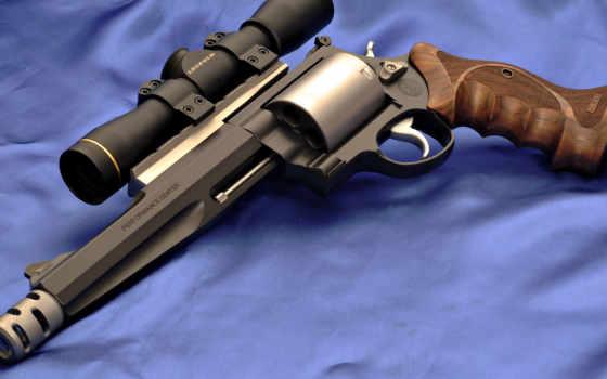 wesson, смит, модель, magnum, revolver, пистолет, прицел,