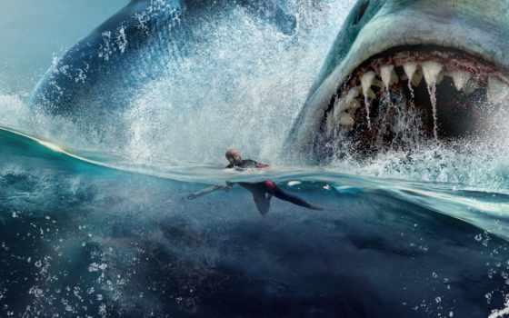 water, сниматься, depth, акула, trailer, monster, még, мегалодон, под, see, minute