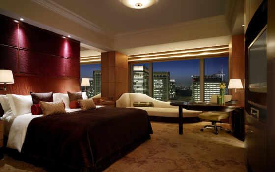 интерьер, комната, дизайн, стиль, квартира, спальня, окно, город, кровать, здание, уют, hotel, tokyo,