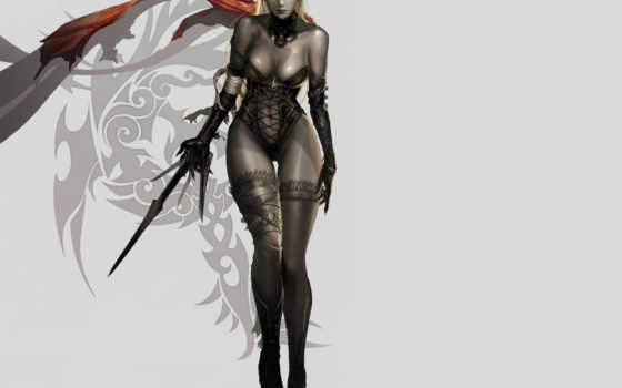 lineage, темная, игре, art, эльф, concept, illustration,