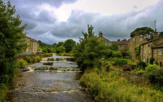 йоркширский, англия, north, река,