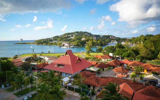 люсия, море, карибское, caribbean, castries, landscape, домики, кастри, острова, state,