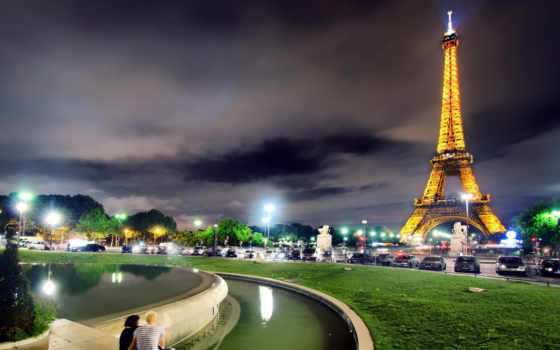париж, ночь, ночного