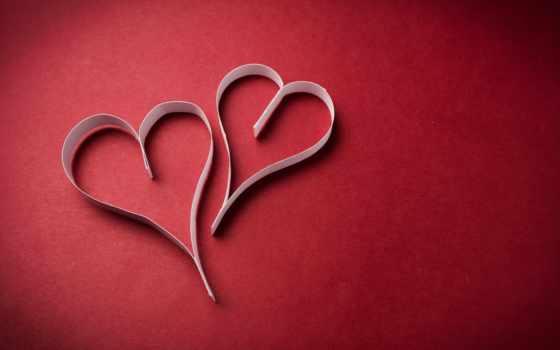 red, сердечки, полоски, сердце, бумага,