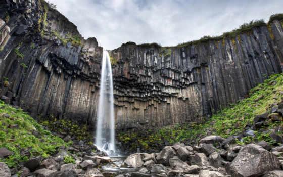 rochas, pedras, cachoeira, parede, gelo, imagens, água, горы, verduras, pedra,