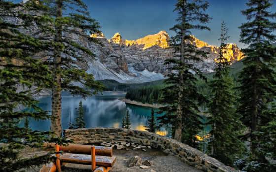 moraine, озеро, banff, альберта, kuntz, филипп, peaks, канада, ten, долина, mountains,