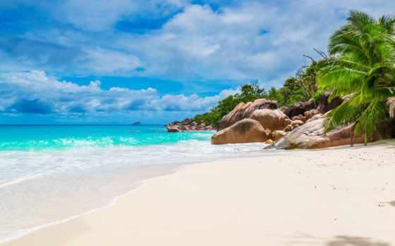 seychelles, пляж, ecran, abyss, plage, desktop, fond,