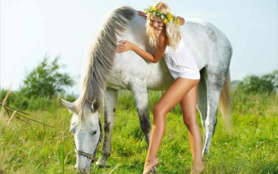 красивые, природа, лошадь, virgin, девушка, mine, pldmd, нояб,