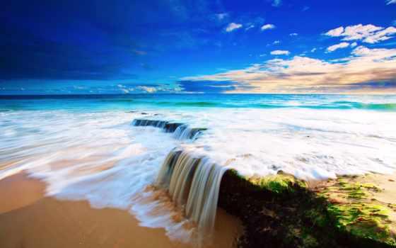 пляж, море, небо