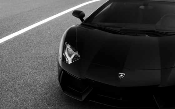 lamborghini, aventador, black, dota, машины, чёрно,