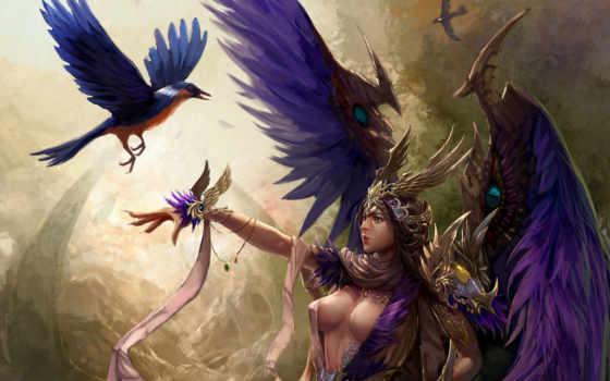 крылья, девушка Фон № 23348 разрешение 2560x1600