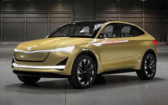 показать, авто, skoda, vision, frankfurt, cars, электромобиль, new, motor,