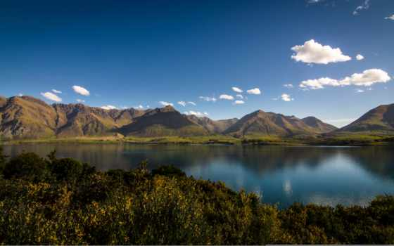 озеро, wakatipu, new, zealand, природа, mountains, николас, otago, небо,