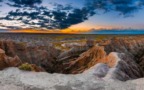 south, dakota, badlands, national, park, сша,