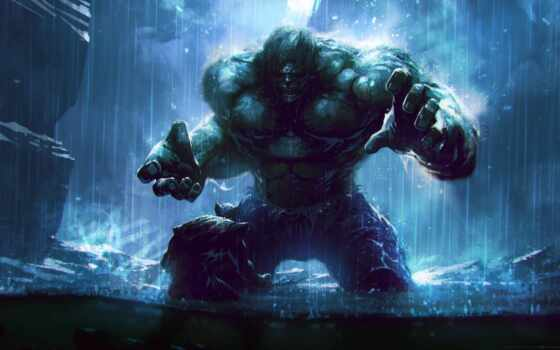 hulk, дождь, рисованный, comics, stay, музыка, movie, marvel, incredible, добавить
