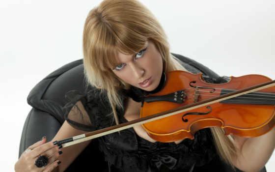 скрипка,, скрипке, смычек, девушка,