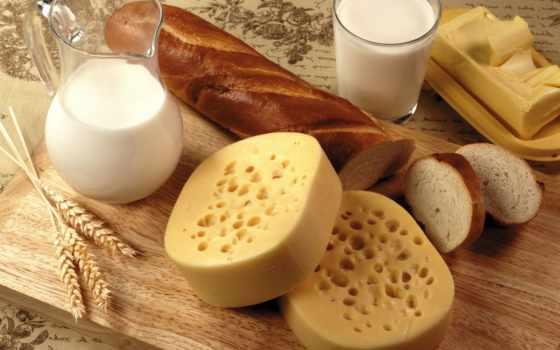 ,сыр, еда, батон, масло, молоко,