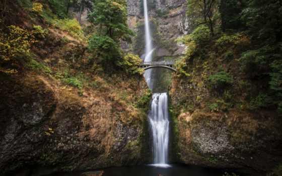 разное, multnomah, falls, водопад, oregon, мб, devushki, водопады,