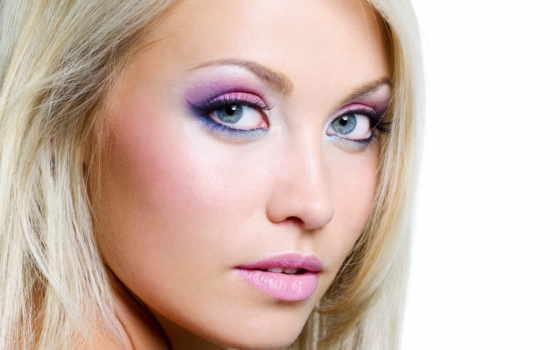 макияж, блондинок, яркий, глаз, глазами, gif, голубыми, розовым, stylish, внимание,