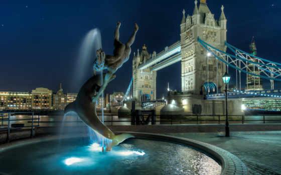 мост, башня, london, великобритания, англия, тауэрский, ночь, ук,