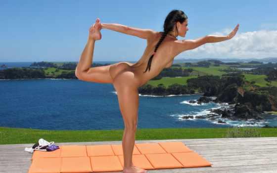 йога, голая, эротика
