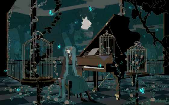 anime, piano, vocaloid
