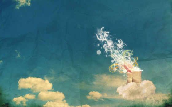 облака, трубы