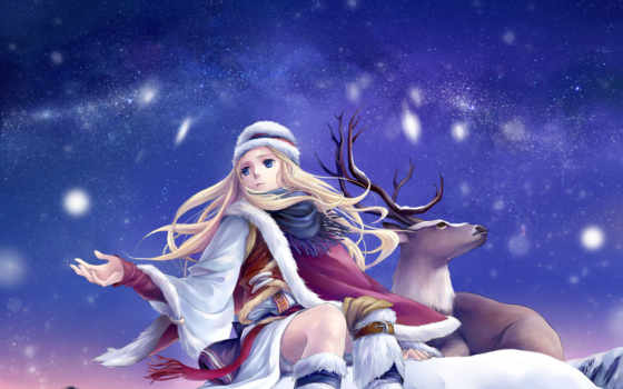 winter, снег, art