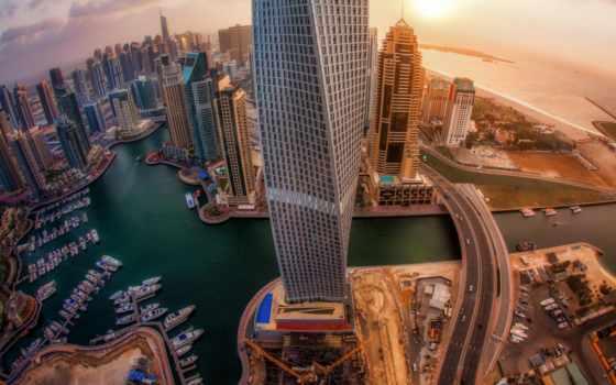 dubai, город, небоскребы