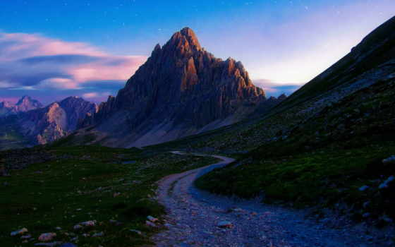summer, утро, горы