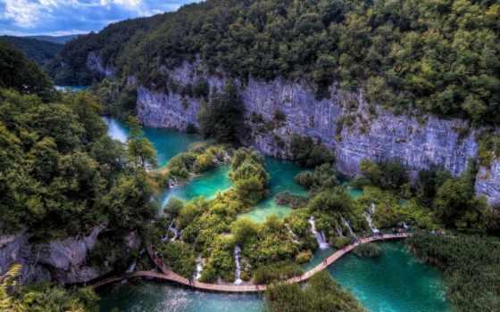 plitvice, park, national, lakes, хорватия, природы, мире, места,