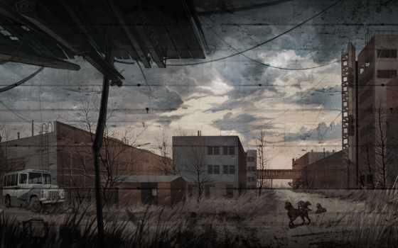 колл, pripyat, припяти, stalker, растение, юпитер, слепые, собаки, art,